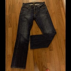 Lucky buttoned denim straight jeans, size 29/30..